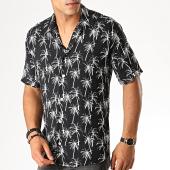 /achat-chemises-manches-courtes/mackten-chemise-manches-courtes-floral-222470-noir-blanc-188623.html