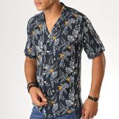 /achat-chemises-manches-courtes/mackten-chemise-manches-courtes-floral-222447-bleu-fonce-blanc-188627.html