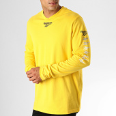 /achat-t-shirts-manches-longues/reebok-tee-shirt-manches-longues-classic-vector-eb3640-jaune-188561.html