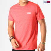 /achat-t-shirts/tommy-hilfiger-jeans-tee-shirt-modern-jaspe-4559-rouge-chine-188530.html
