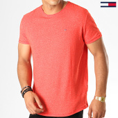 /achat-t-shirts/tommy-hilfiger-jeans-tee-shirt-essential-jaspe-4792-rouge-chine-188545.html
