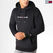 /achat-sweats-capuche/tommy-hilfiger-jeans-sweat-capuche-straight-logo-7030-noir-188560.html
