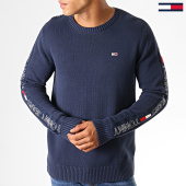 /achat-pulls/tommy-hilfiger-jeans-pull-a-bandes-tape-6998-bleu-marine-188592.html