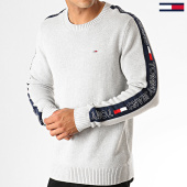 /achat-pulls/tommy-hilfiger-jeans-pull-a-bandes-tape-6998-gris-chine-188593.html