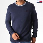 /achat-pulls/tommy-hilfiger-jeans-pull-solid-7000-bleu-marine-188595.html