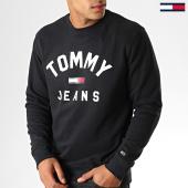 /achat-sweats-col-rond-crewneck/tommy-hilfiger-jeans-sweat-crewneck-essential-flag-7024-noir-blanc-188597.html