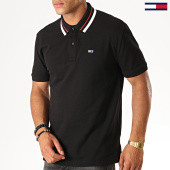 /achat-polos-manches-courtes/tommy-hilfiger-jeans-polo-manches-courtes-classics-tipped-7195-noir-188611.html