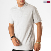 /achat-polos-manches-courtes/tommy-hilfiger-jeans-polo-manches-courtes-classics-solid-7196-gris-chine-188612.html