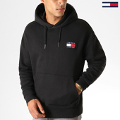 /achat-sweats-capuche/tommy-hilfiger-jeans-sweat-capuche-badge-6593-noir-188639.html