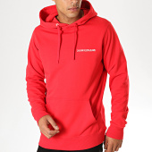 /achat-sweats-capuche/calvin-klein-sweat-capuche-small-institutional-regular-3700-rouge-blanc-188687.html