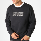 /achat-sweats-col-rond-crewneck/calvin-klein-sweat-crewneck-institutional-repetition-regular-3740-noir-blanc-188693.html