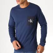 /achat-t-shirts-manches-longues/calvin-klein-tee-shirt-manches-longues-monogram-pocket-3797-bleu-marine-188700.html