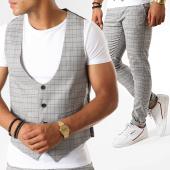 /achat-pantalons-carreaux/classic-series-ensemble-pantalon-et-gilet-a-carreaux-3193-gris-clair-188772.html