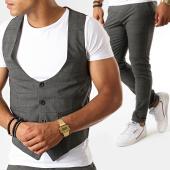 /achat-pantalons-carreaux/classic-series-ensemble-pantalon-et-gilet-a-carreaux-3188-gris-anthracite-188774.html