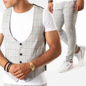 /achat-pantalons-carreaux/classic-series-ensemble-pantalon-et-gilet-a-carreaux-3187-gris-clair-188799.html
