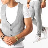 /achat-pantalons-carreaux/classic-series-ensemble-pantalon-et-gilet-a-carreaux-3191-gris-clair-188811.html