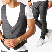 /achat-pantalons-carreaux/classic-series-ensemble-pantalon-et-gilet-a-carreaux-3192-gris-anthracite-188813.html