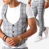 /achat-pantalons-carreaux/classic-series-ensemble-pantalon-et-gilet-a-carreaux-3190-gris-clair-188814.html