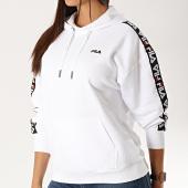 /achat-sweats-capuche/fila-sweat-capuche-femme-a-bandes-clara-687073-blanc-188650.html