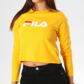 /achat-t-shirts-manches-longues/fila-tee-shirt-femme-crop-manches-longues-marceline-687213-jaune-188656.html