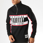 /achat-sweats-col-rond-crewneck/parental-advisory-sweat-col-demi-zip-logo-noir-188761.html