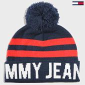 /achat-bonnets/tommy-hilfiger-jeans-bonnet-bold-logo-bleu-marine-rouge-188763.html