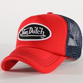 /achat-trucker/von-dutch-casquette-trucker-foam-rouge-bleu-marine-188788.html