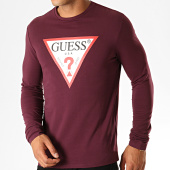 /achat-t-shirts-manches-longues/guess-tee-shirt-manches-longues-m94i43-j1300-bordeaux-blanc-rouge-188853.html