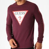 /achat-t-shirts-manches-longues/guess-tee-shirt-manches-longues-m94i43-j1300-bordeaux-blanc-rouge-188853.html