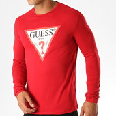 /achat-t-shirts-manches-longues/guess-tee-shirt-manches-longues-m94i43-j1300-rouge-blanc-188854.html