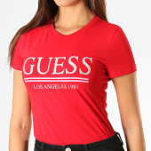 /achat-t-shirts/guess-tee-shirt-femme-w94i20-j1300-rouge-argente-188859.html