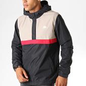 /achat-vestes/kappa-veste-zippee-capuche-authentic-icilio-304nhe0-noir-gris-rouge-189160.html