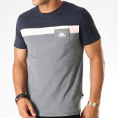 /achat-t-shirts-poche/kappa-tee-shirt-poche-authentic-304piy0-bleu-marine-rose-blanc-189161.html