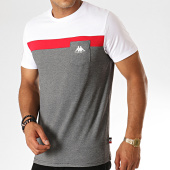 /achat-t-shirts-poche/kappa-tee-shirt-poche-authentic-304piy0-gris-chine-blanc-rouge-189163.html