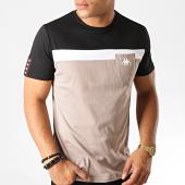 /achat-t-shirts-poche/kappa-tee-shirt-poche-authentic-304piy0-taupe-noir-blanc-189165.html