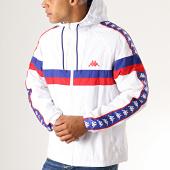 /achat-vestes/kappa-veste-zippee-capuche-a-bandes-bellagio-304qvf0-blanc-bleu-roi-rouge-189166.html