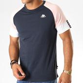 /achat-t-shirts/kappa-tee-shirt-authentic-iriami-304tdp0-bleu-marine-rose-blanc-189171.html