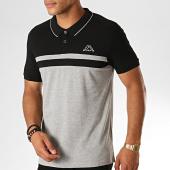 /achat-polos-manches-courtes/kappa-polo-manches-courtes-logo-esmilio-304ujj0-gris-chine-noir-blanc-189176.html