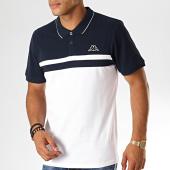 /achat-polos-manches-courtes/kappa-polo-manches-courtes-logo-esmilio-304ujj0-bleu-marine-blanc-189179.html