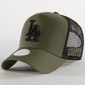 ea326d169a927 New Era - Casquette Trucker Femme League Essential 12040422 Los Angeles  Dodgers Vert Kaki