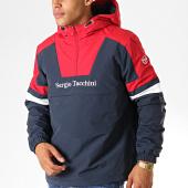 /achat-vestes/sergio-tacchini-veste-zippee-capuche-defoe-anorak-38366-bleu-marine-rouge-blanc-189070.html