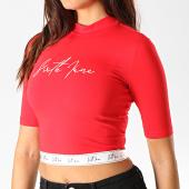 /achat-t-shirts/sixth-june-tee-shirt-crop-femme-3904kto-rouge-blanc-189042.html