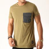 /achat-t-shirts-poche/sixth-june-tee-shirt-poche-3885cts-vert-kaki-189140.html