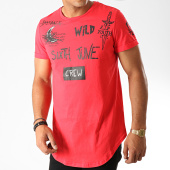 /achat-t-shirts-longs-oversize/sixth-june-tee-shirt-oversize-3853cts-rouge-noir-189229.html