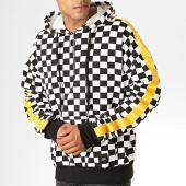 /achat-sweats-zippes-capuche/sixth-june-sweat-col-zippe-capuche-damiers-avec-bandes-3024vsw-noir-blanc-jaune-189230.html