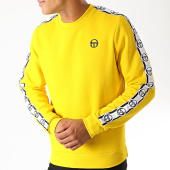 /achat-sweats-col-rond-crewneck/sergio-tacchini-sweat-crewneck-a-bandes-delaco-38316-jaune-blanc-bleu-marine-189354.html