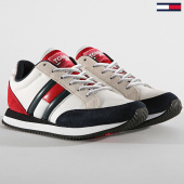 /achat-baskets-basses/tommy-hilfiger-jeans-baskets-femme-casual-retro-sneaker-en0en00644-red-white-blue-189391.html