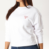 /achat-sweats-col-rond-crewneck/guess-sweat-crewneck-femme-w94q29-k8rs0-blanc-189512.html