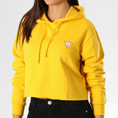/achat-sweats-capuche/guess-sweat-capuche-crop-femme-w94q56-k8rs0-jaune-189514.html