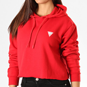 /achat-sweats-capuche/guess-sweat-capuche-crop-femme-w94q56-k8rs0-rouge-189515.html